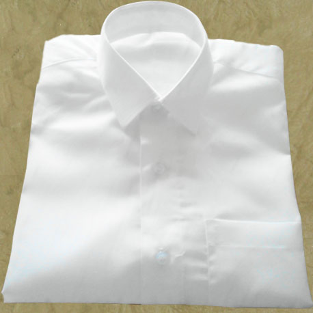 3a1b5e323 Men s Mono Cotton White Shirt - Half Sleeve